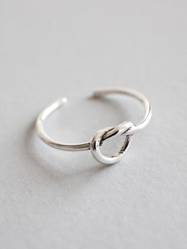 925 Sterling Silver With Antique Silver Plated Simplistic Irregular Rings
