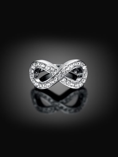 All-match Figure Eight Shaped Austria Crystals Ring