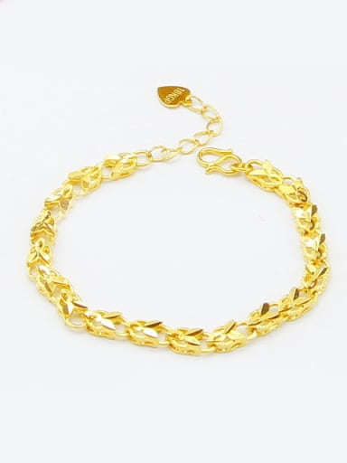 High Quality 24K Gold Plated Heart Bracelet