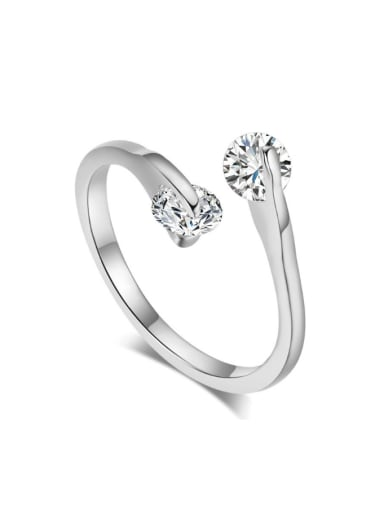 Classical Double Sparking Zircons Opening Ring