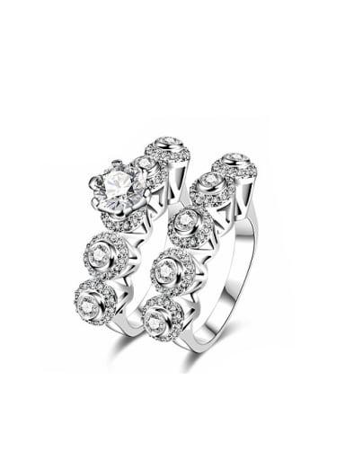 High Quality Multi-circle Shaped Glass Bead Ring Set