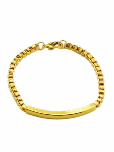 Unisex Personality 24K Gold Plated Geometric Shaped Bracelet