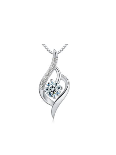 S925 Silver Shining Zircon Accessories Pendant