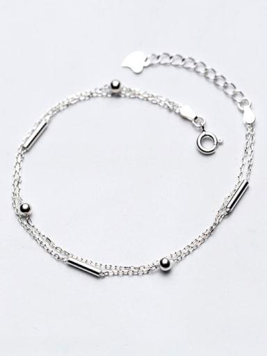 Fashionable Double Layer Design S925 Silver Bracelet