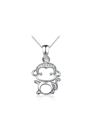Hollow Lovely Monkey S925 Silver Pendant