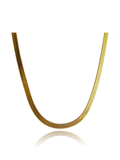 Women Geometric Shaped 24K Gold Plated Copper Necklace
