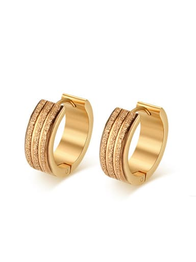 Personality Gold Plated Geometric Shaped Clip Earrings