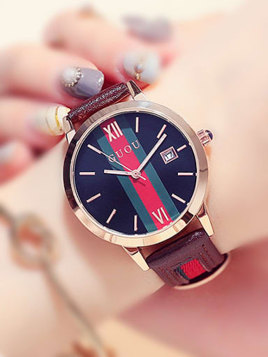 GUOU Brand Retro Mechanical Watch