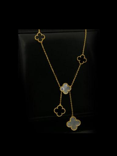 Clover Copper  Long Necklace
