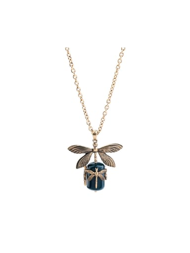 Lovely Dragonfly Resin Alloy Necklace