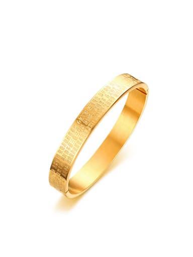 Exquisite Gold Plated Geometric Shaped Titanium Bangle