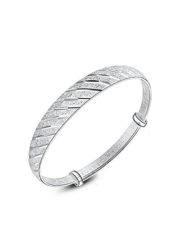 Simple Silver Plated Copper Bangle
