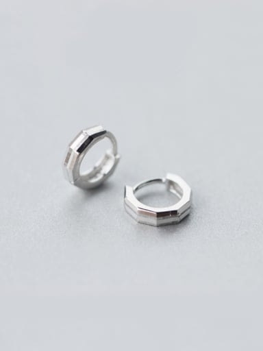 S925 Silver Fashion Personality Lover Small Polygons clip on earring