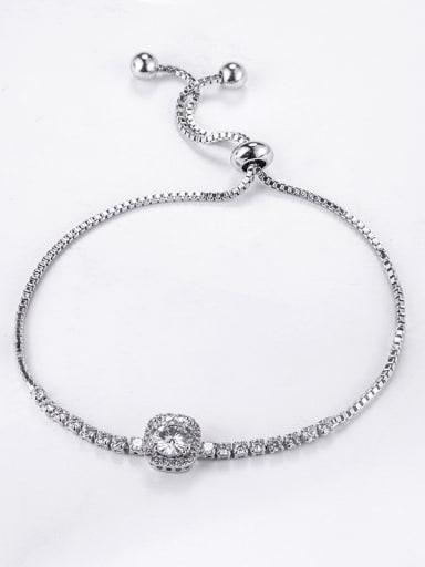 Simple and generous AAA zircons telescopic adjustable Bracelet