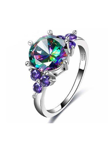 Exquisite Multi-color Glass Beads Women Ring