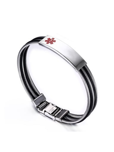 Unisex Fashion Geometric Shaped Titanium Bangle