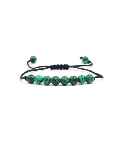 Green Natural Stones Woven Rope Fashion Bracelet