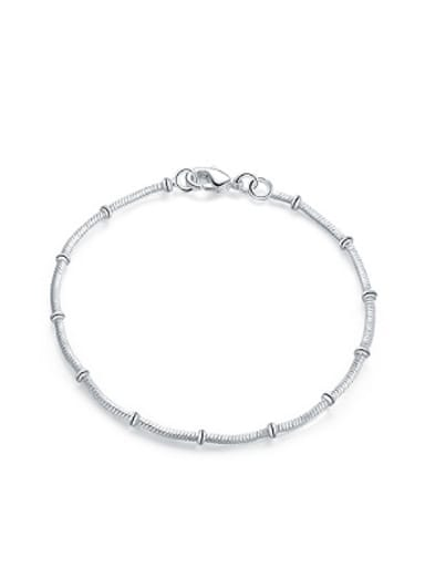 Simple Silver Plated Women Bracelet