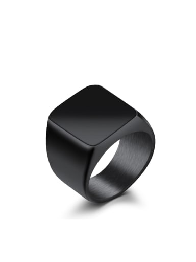 Simple Exaggerated Smooth Titanium Ring
