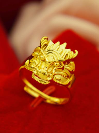 Exquisite Gold Plated Dragon Shaped Ring
