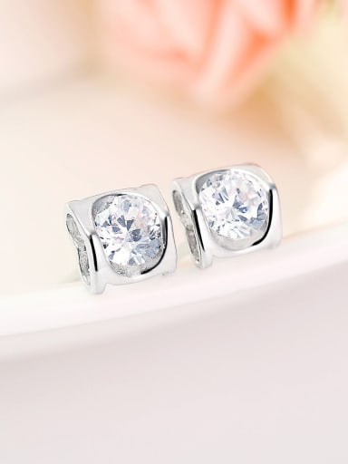 Women Heart Shaped Zircon stud Earring