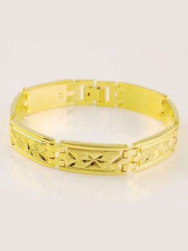 Unisex 24K Gold Plated Geometric Shaped Bracelet