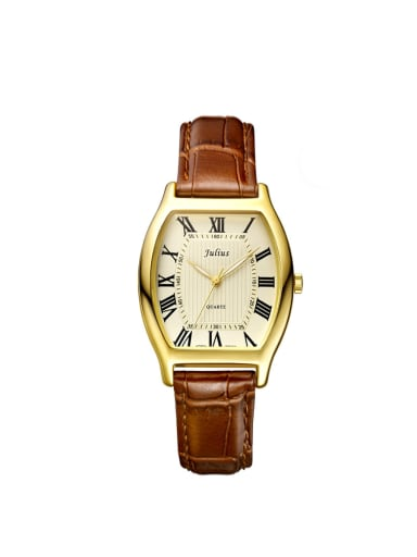 Model No 1000003371 Women 's Brown Women's Watch Japanese Quartz Square with 28-31.5mm