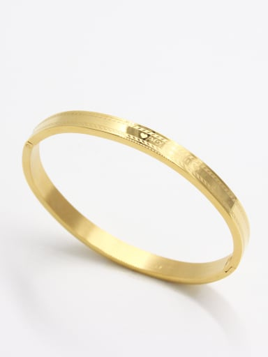 Personalized Stainless steel Gold   Bangle   59mmx50mm