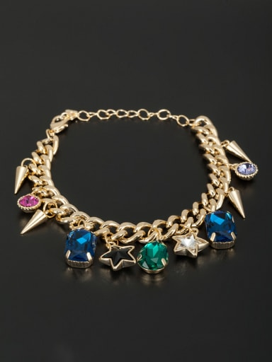 Gold Plated Star Zircon Bracelet
