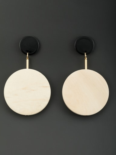 New design Wood Round Drop drop Earring in Multicolor color