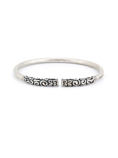 Model No DW096 A Silver-Plated Titanium Stylish  Bangle Of Statement