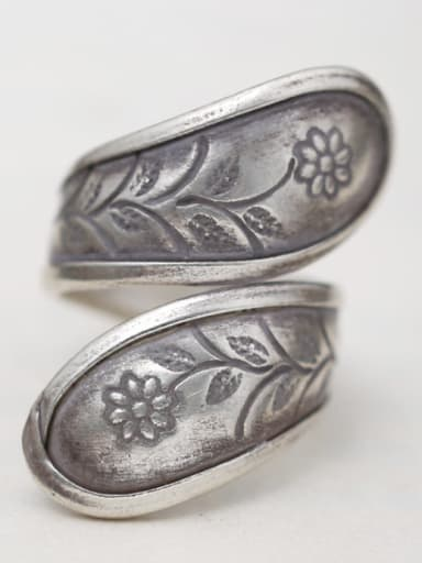 Silver Flower Silver Beautiful Band band ring