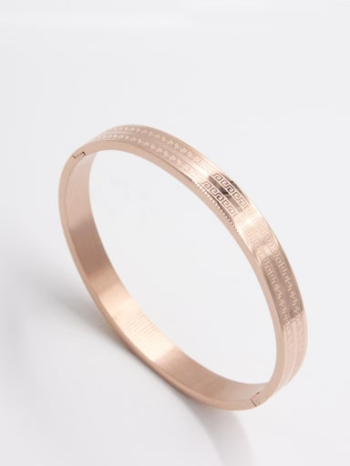 Model No A000043H-001 Fashion Stainless steel  Bangle   63MMX55MM