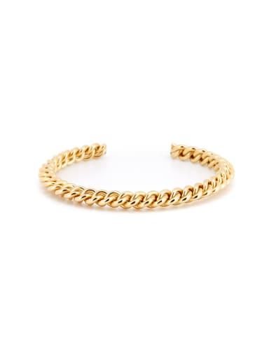 Gold Fringe Youself ! Gold Plated Titanium  Bangle