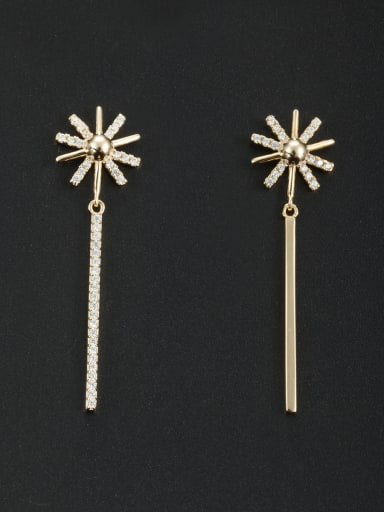 Custom White Fringe Drop drop Earring with Gold Plated