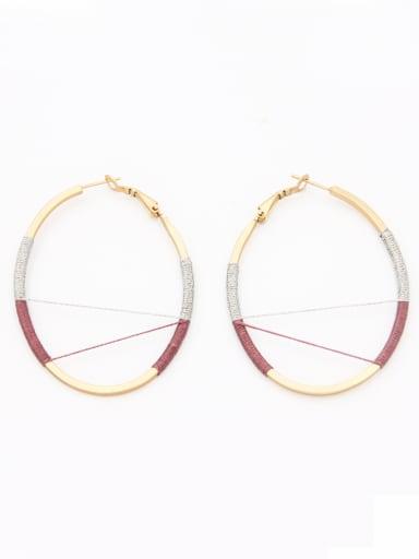 Multicolor color Gold Plated Hook  Hoop hoop Earring