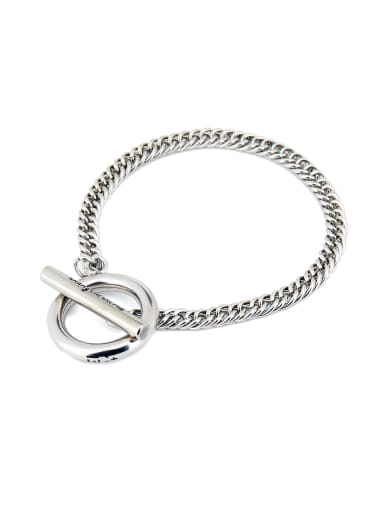 Fashion Silver-Plated Titanium Personalized Bracelet