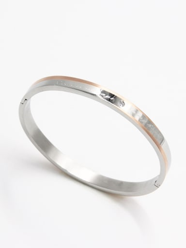 Mother's Initial Multicolor Bangle with  Zircon   59mmx50mm
