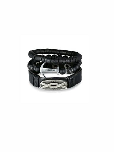 New design Charm Beads Bracelet in Black color