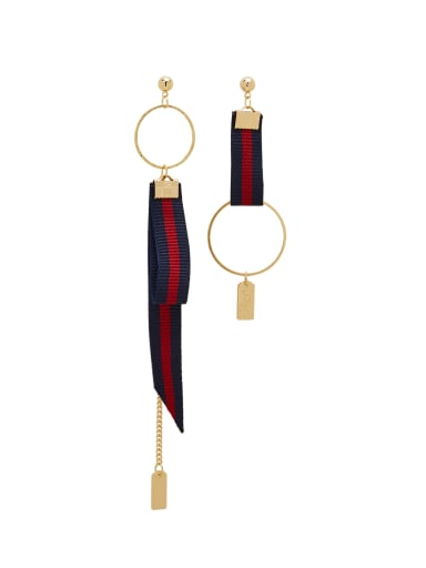 Custom Gold Round Drop drop Earring with Gold Plated Zinc Alloy
