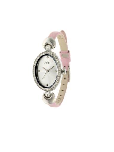 Women 's Pink Women's Watch Japanese Quartz Oval with 23.5mm & Under
