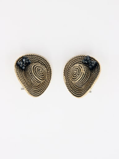 Custom Black  Studs stud Earring with Gold Plated