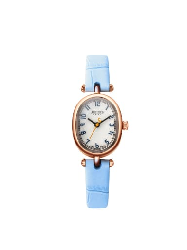 Women 's Blue Women's Watch Japanese Quartz Oval with 24-27.5mm