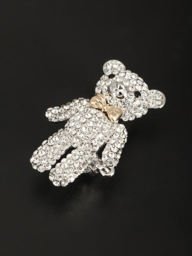 The new Platinum Plated Rhinestone Animal Motif Lapel Pins & Brooche with Multicolor