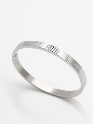 White  Bangle with Stainless steel    59mmx50mm
