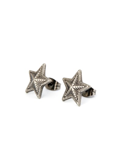 Silver Star Studs stud Earring with Silver-Plated Titanium