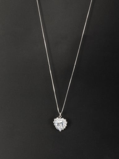 Model No HY04946P10A Fashion Platinum Plated  Necklace