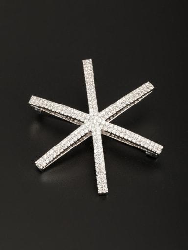 Platinum Plated  Zircon White Lapel Pins & Brooche