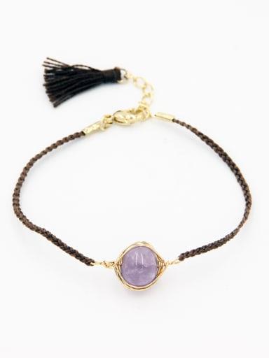 A Gold Plated Stylish  Stone Bracelet Of Round