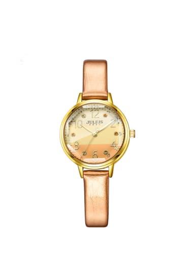 Model No A000475W-003 Women 's Orange Women's Watch Japanese Quartz Round with 24-27.5mm